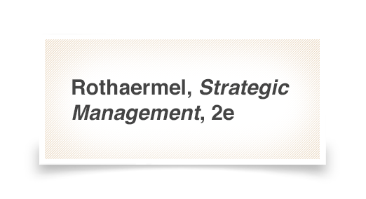 strategic management 2e rothaermel chapter A summary of chapter 1 of the book by anthony e henry mm mba university of indonesia donny marthen sitompul (1306356412) 1 what is strategy understanding strategic management 2nd ed 2 1 understanding strategic management introduction 11 what is strategy strategy was born out of military conflicts and the use of a superior strategy enabled .